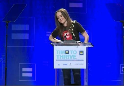 "Ellen Page: ""Sono gay"". E parte la standing ovation"