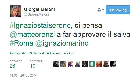 giorgia meloni hashtag marino