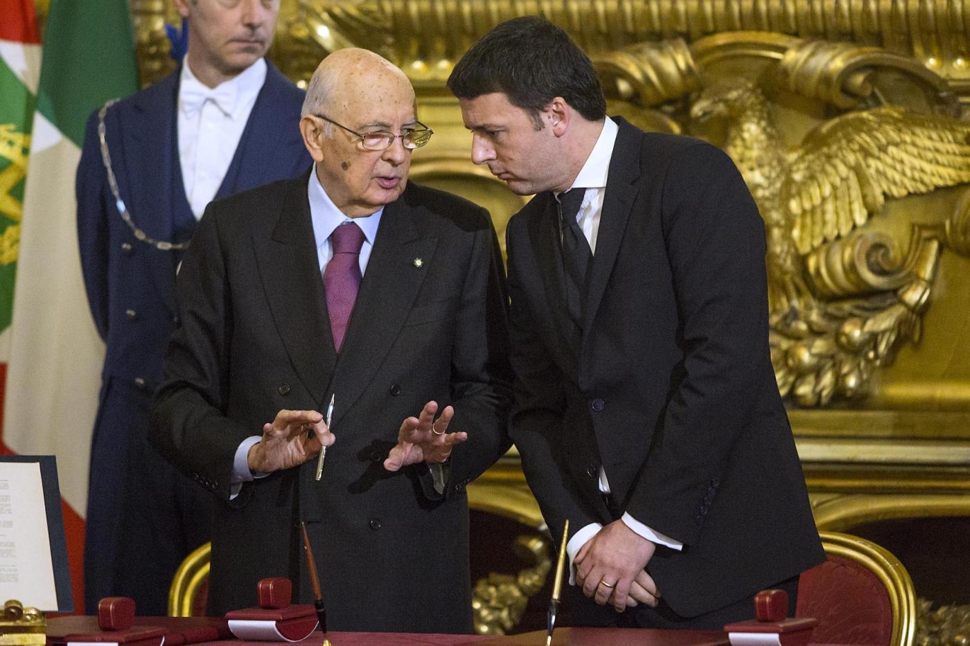 Napolitano incalza Renzi sulla riforma del Titolo V della Costituzione