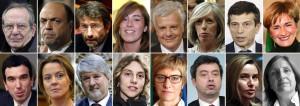 I ministri del governo Renzi