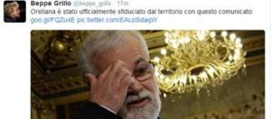 """Blog Beppe Grillo: """"Luis Alberto Orellana sfiduciato"""". Ms5: """"Non ci rappresenta"""""""