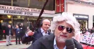 A Sanremo arriva il finto Beppe Grillo in attesa di quello vero