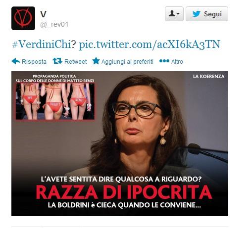 """Beppe Grillo: """"Laura Boldrini ipocrita. Cieca quando conviene..."""" (foto)"""