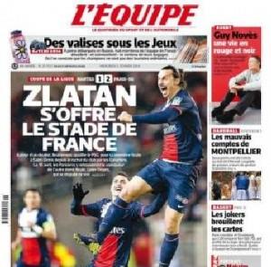 Zlatan Ibrahimovic, altro gol impossibile in Psg-Nantes (video)