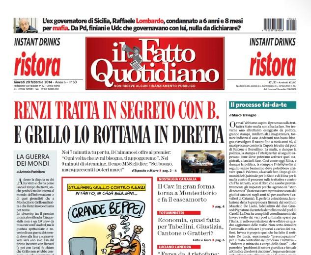 """Marco Travaglio sul Fatto Quotidiano: """"Il processo fai-da-te"""""""