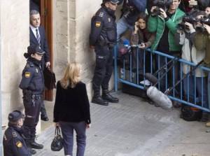 """Spagna. Infanta Cristina in tribunale per frode fiscale: """"Va tutto bene"""""""