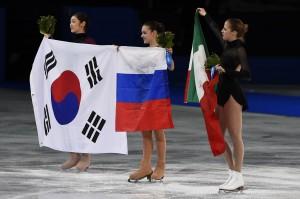 Sochi 2014 Olimpiadi Invernali - Carolina Kostner - Cerimonia dei Fiori