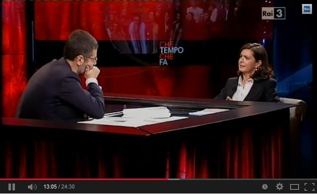 Laura Boldrini: Beppe Grillo? Sul suo blog potenziali stupratori (video)