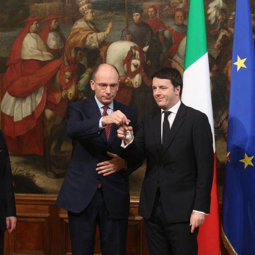 Letta-Renzi, il gelo al passaggio delle consegne