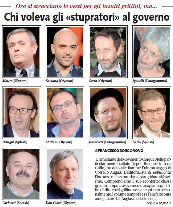 """Libero martedi 4 febbraio Francesco Borgonovo: """"Chi voleva gli stupratori al governo"""""""