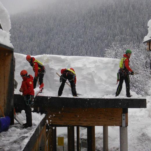 Veneto sotto la neve (foto Ansa)