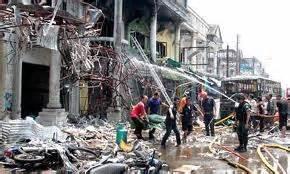 Devastazioni provocate dagli islamici contro buddhisti