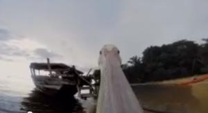 Il primo volo del pellicano ripreso con la GoPro
