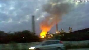 Priolo (Siracusa), incendio nella raffineria Isab Sud: nessun ferito