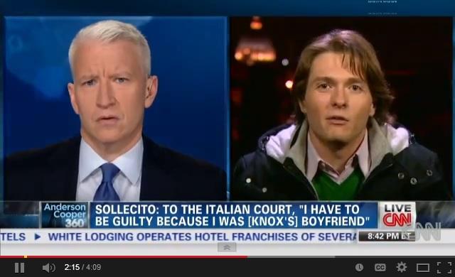 """Raffaele Sollecito alla Cnn: """"Non fuggo. Resto e combatto"""" (video)"""