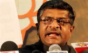 Il leader della destra indiana Ravi Shankar Prasad