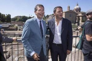 """La strigliata. Matteo Renzi a Ignazio Marino: """"Governala 'sta città"""""""