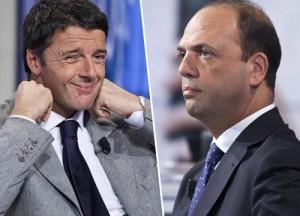 Matteo Renzi, Angelino Alfano