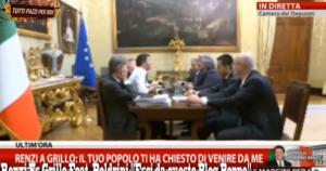 Renzi- Grillo, rissa in streaming diventa un rap
