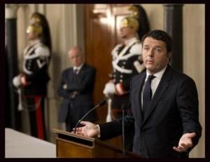Guarda la versione ingrandita di Matteo Renzi il giorno dell'incarico da premier (foto Lapresse)