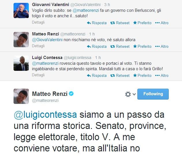 """Matteo Renzi: """"A me conviene votare, all'Italia no. Mai governo con Berlusconi"""""""