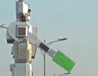 Congo, robot ad energia solare al posto dei vigili in carne e ossa