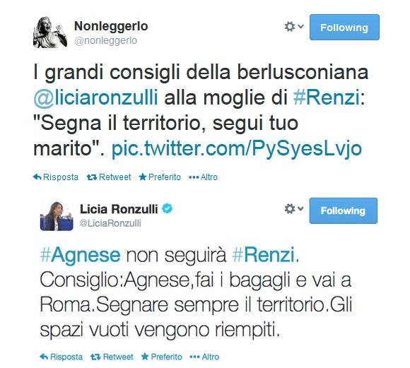 Il tweet di Licia Ronzulli