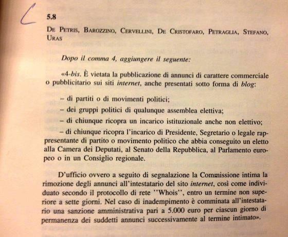 """""""Volevano chiudere il blog di Beppe Grillo"""", l'emendamento (bocciato) di Sel"""