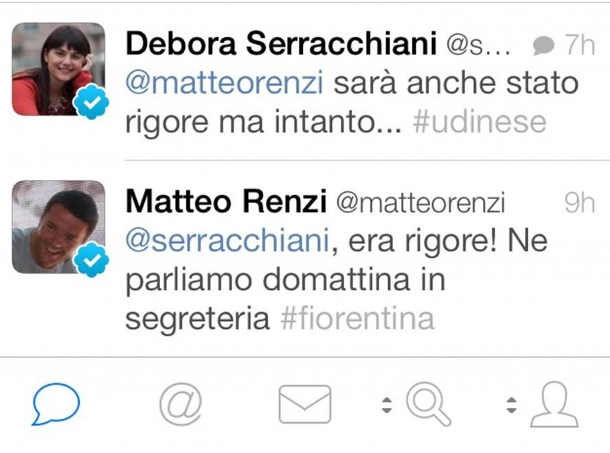 Coppa Italia, Renzi - Serracchiani: scambio di tweet su Udinese-Fiorentina (foto)