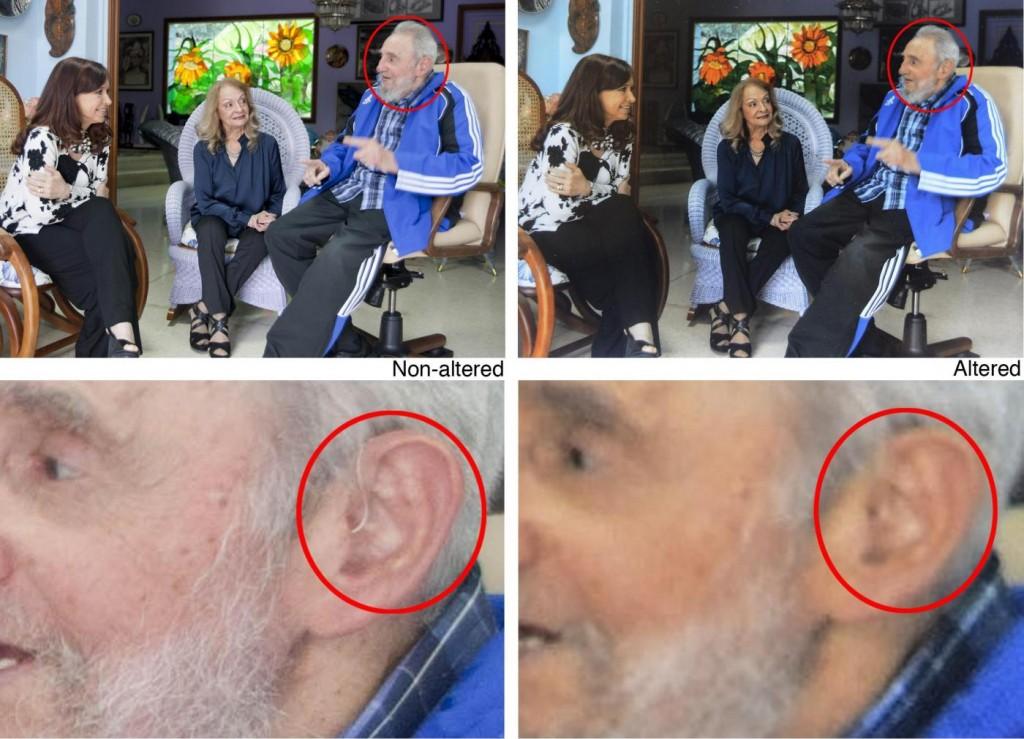 Fidel Castro senza apparecchio acustico. Ap ritira sue foto