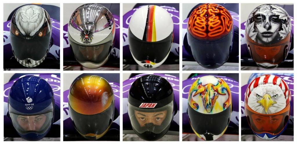 Sochi, la moda del casco dipinto
