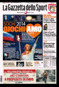 Sochi 2014, giochi-amo le Olimpiadi invernali (La Gazzetta dello Sport)
