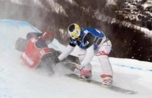 Sochi, snowboard: Jacqueline Hernandez e Maria Kommisarova, due incidenti (LaPresse)