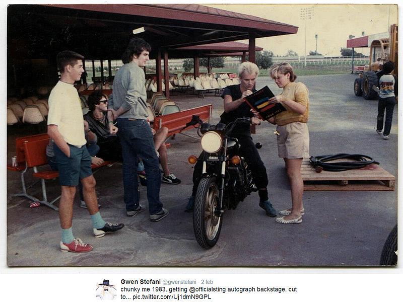 Gwen Stefani chiede autografo a Sting (foto)