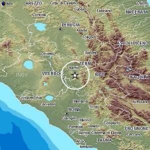 Terremoto tra Lazio e Umbria: scossa del 2.9 tra Terni e Narni