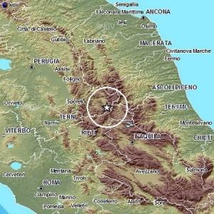 Terremoto Rieti e Perugia: 2 scosse, più forte del 3.5 tra Cittareale e Norcia
