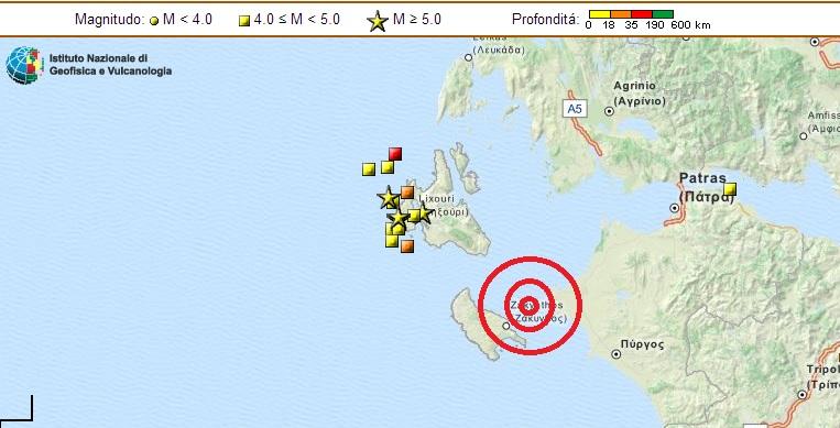 Terremoto a Zante (Zacinto): magnitudo 4.1