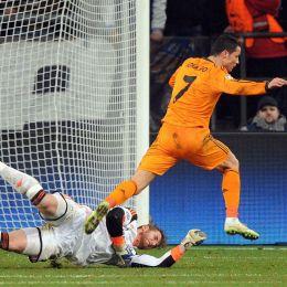 Cristiano Ronaldo nella foto Ansa