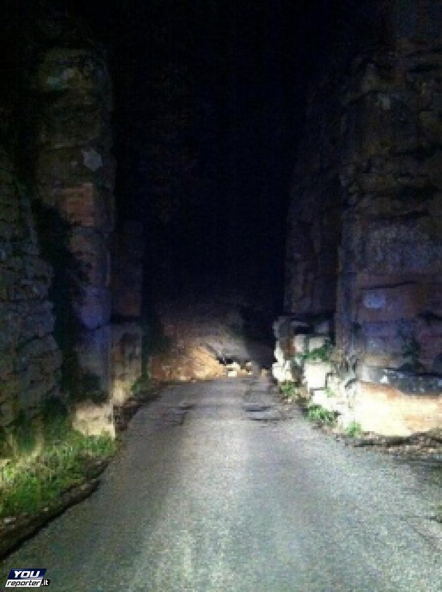 A Volterra due nuovi smottamenti alle mura per il maltempo