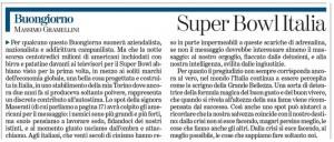 """Massimo Gramellini, Buongiorno sulla Stampa: """"Superbowl Italia"""""""