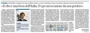 """Barilla: """"Il cibo è una forza dell'Italia, l'Expo un'occasione da non perdere"""""""