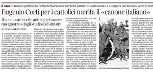 Eugenio Corti, per i cattolici merita il canone italiano