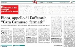"""Sergio Cofferati: """"La Cgil si fermi. Smetta di trattare il dissenso con lo Statuto"""""""