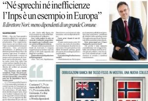 "Mauro Nori: ""Né sprechi né inefficienze l'Inps è un esempio in Europa"""