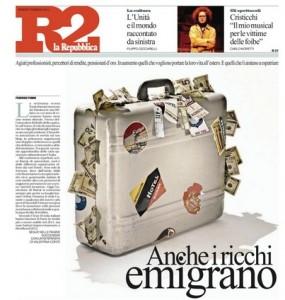Anche i ricchi emigrano, Federico Fubini su Repubblica