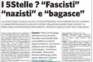 """Marco Travaglio sul Fatto Quotidiano: """"Senti chi insulta"""""""