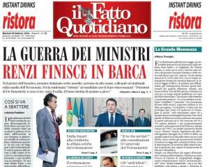 """Marco Travaglio sul Fatto Quotidiano: """"La grande monnezza"""""""