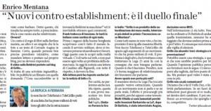 """Enrico Mentana: """"Nuovi contro establishment: è il duello finale"""""""