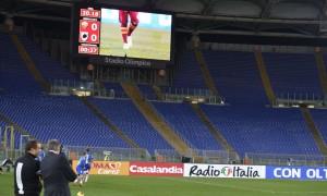 Roma, Distinti chiusi contro l'Inter