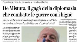 """De Mistura, il Giornale: """"Gagà della diplomazia che combatte le guerre con i bignè"""""""